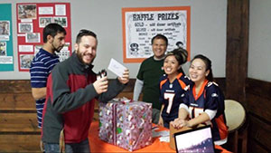 Tail Gate Raffle – there were prizes for everyone in this raffle!