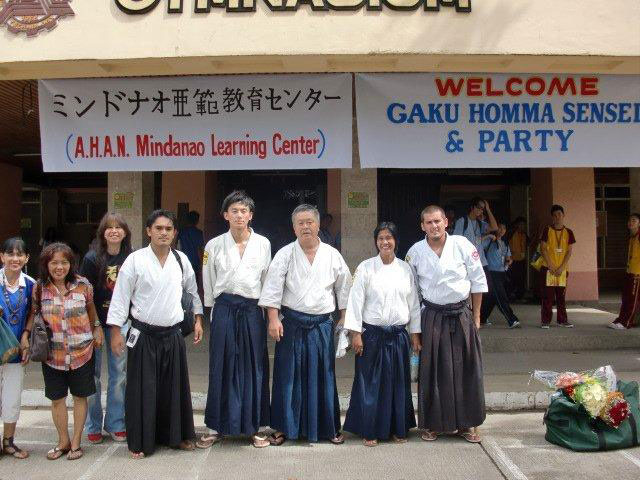 In front of MSU IIT. From left: Saidamin, Suenaga, Homma Kancho, Ava Sensei and Cihan