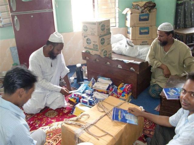 Delivery of school supplies to Madrasa elders.