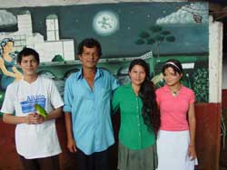 Armando (far left) and his family.