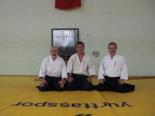 From left; Ali Uludag Sensei, Homma Kancho, Mustaf Aygun Sensei.