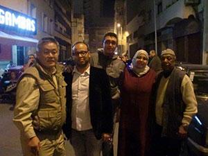 With the family of Alaoui Sensei.