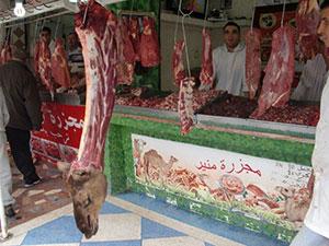 Camel meat shop