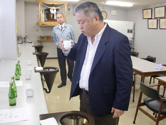 Sake tasting- Homma Kancho and sake brewery owner Mr. Sato