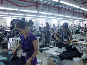 The factory staff are very good workers