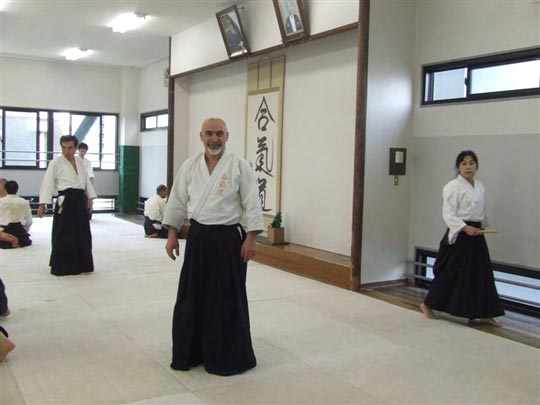 At Aikikai Hombu dojo after morning practice.