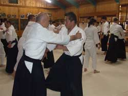 Original Iwama sempai (senior students) practice hard with Ali Sensei.