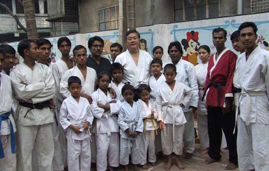 Nain Sensei and his wonderful students.