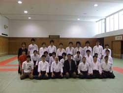 With Kyoto University Aikido Club members.