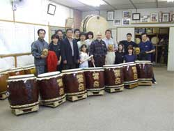 With the Kyougaku Taiko Drummers.