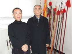 Left; Instructor Shin  Right; Korea Sib Pal Ki Association President Kim.