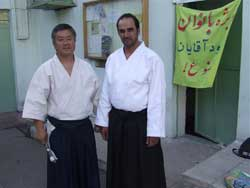 In front of the dojo with Ali Sensei.