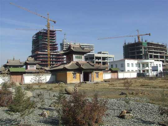 A building boom in Ulaanbaatar. Mongolia must be mindful and  protective of it's past as they move on toward the future.