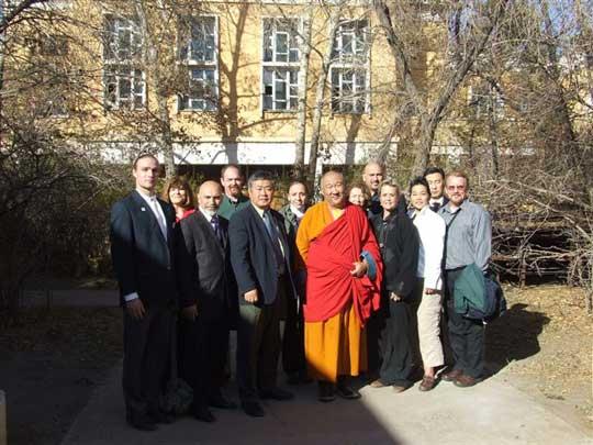 With Hamba Llama Choizants at the Gandan Temple.