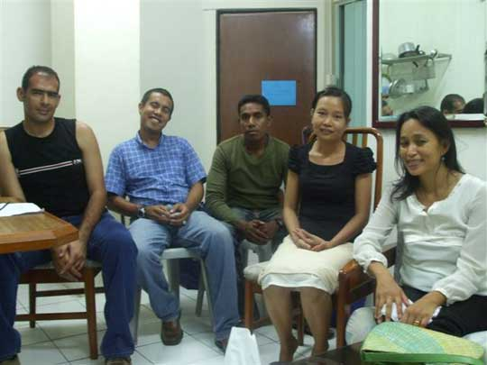 Timor Aikido Federation staff; Mr. Ziad, President Francisco, security personel, Mary and Joy.
