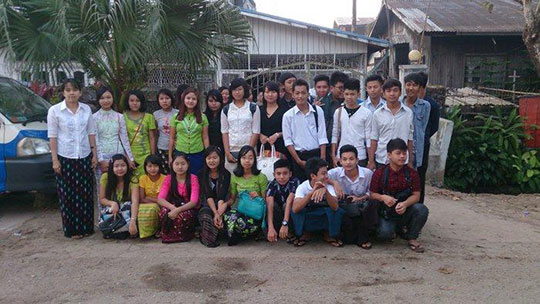 Students from all over Myanmar live and study here. Left: Daw Khin Lay Swe Sensei.