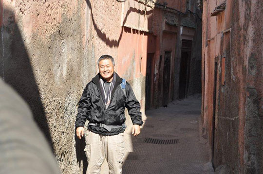 Homma Kancho's smile is known around the word, this time in Marrakech!