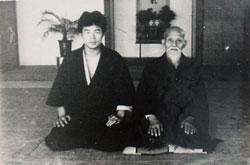 Aikido Founder Morihei Ueshiba and Maruyama Sensei.