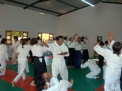 Practice at the Cuautla Aikido dojo.
