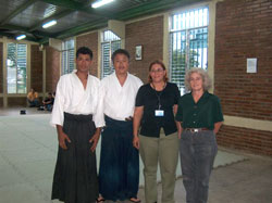 Instructor Norman Navarro, Homma Kancho, The University Sports Coordinator and Susan Kinne Sensei.