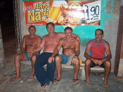 With the native Santo Aleixo elders.