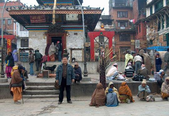 Large Hindu temple in Kathmandu.