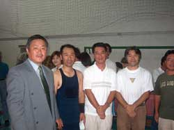 From left Homma Kancho, Leader Mr. Chino, Deputy Consul General Ikeda.