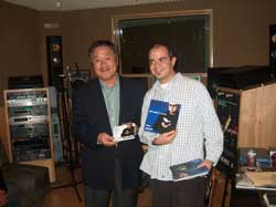 Homma Kancho with Aleks  in his recording studio.