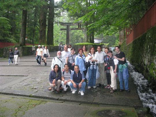 In front of the Nikko Toshogu Shrine.
