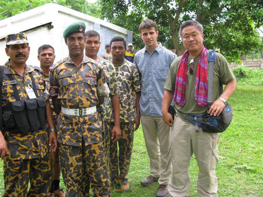 Bangladesh Soldier, Captain Roney and Homma Kancho.