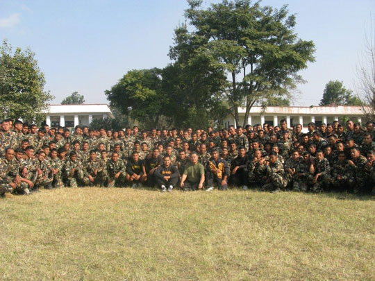 Homma Kancho with future instructor Ranger cadets.