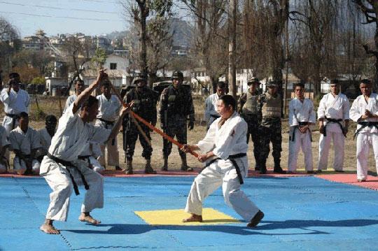 Nepal Army Ranger Aikido demonstration