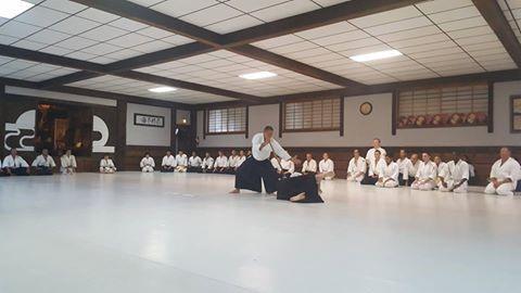Hitohira Saito Jukucho, Dento Iwama Ryu at Aikido Nippon Kan dojo in Denver, Aug 2016