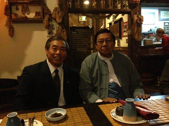Judge Hada and Mr. Than in the Nippon Kan Headquarter museum