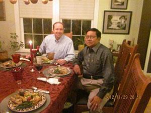 Family dinner at the home of Nippon Kan President, Doug Kelly