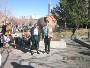 Sightseeing with Yuji on the CU Denver Campus