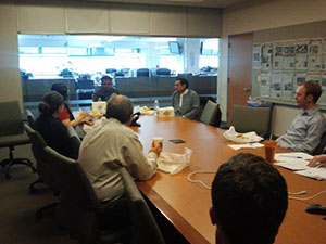 Conversation with Denver Post Reporters over lunch