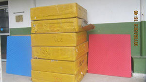 Mats donated by Homma Kancho for mountain training