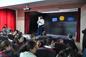 Giving a speech at Keep School