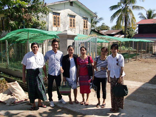 Nilar's family are all also teachers at the AHAN Nippon Kan Myanmar Learning Center