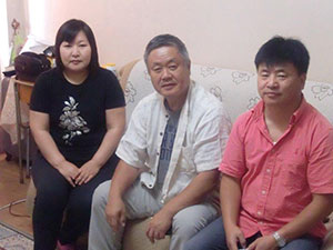 Myself, Alima and my music professor husband with Homma Kancho