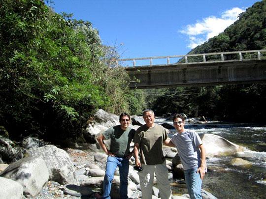 From left: Arturo, Homma Kancho, Carlos