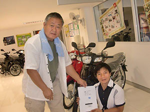 A new motorcycle for Pastor Bilay