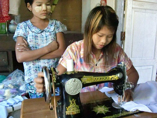Talented Miss May, survivor in Sittwe