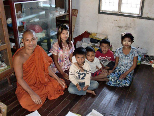 Children currently cared for by the monks in Sittwe