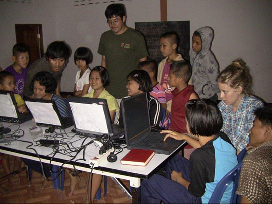 Children of Bilay House delighted with their new computers