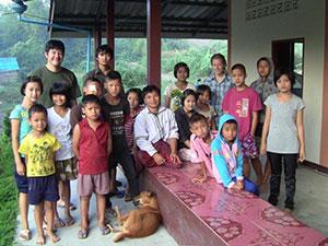 Koichi Sensei with Pastor Bilay and the children of Bilay House