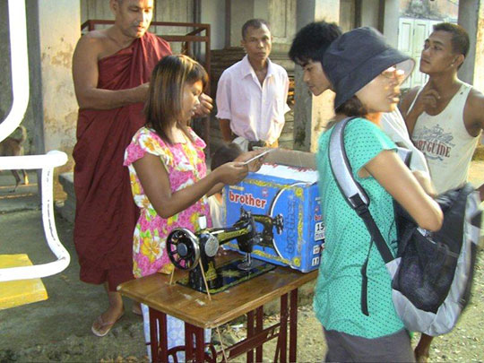 A new sewing machine for making the children's clothes