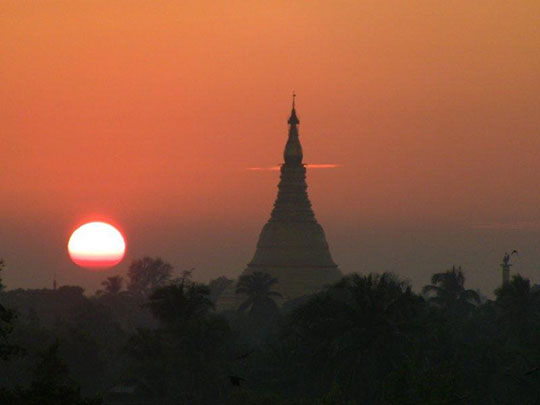 A beautiful sunrise for the people of Sittwe