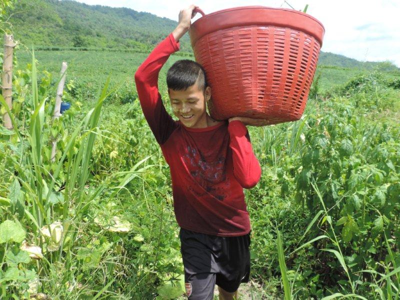 Bilay House student very happy with the harvest!